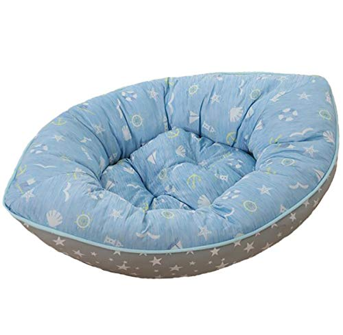 Pet Dog Puppy Soft Winter Warm Blue Yacht Pirate Ship Bed House Square Durable Dog Indoor Sofa (Blue)
