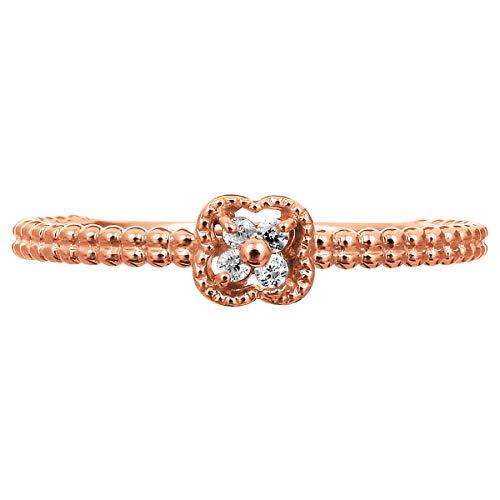 [ココカル]cococaru ダイヤ リング ダイヤモンドリング 指輪 18金 18k K18 ゴールド ギフト 記念日 プレゼント (ピンクゴールド 5)