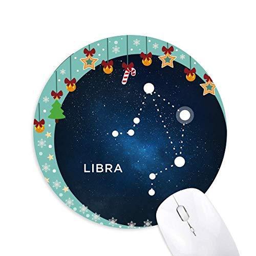 Waage Sternbild Zodiac sign Maus Pad Jingling Bell Round Rubber Mat