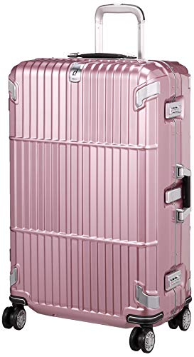 [エー・エル・アイ] スーツケース departure ハードキャリー 保証付 80L 5.5kg シャイニングローズピンク