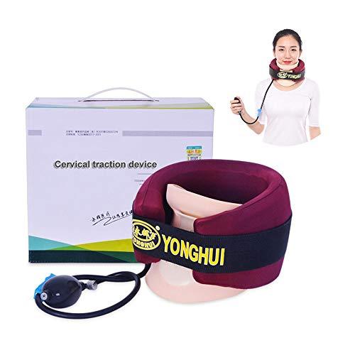 Dispositivo de tracción Cervical, collarín casero, Soporte de Cuello, collarín Cervical, Instrumento de corrección de Estiramiento para Adultos(Unisex)