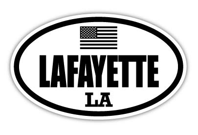 "Lafayette LA Louisiana Lafayette County Stealthy US Flag Euro Decal Bumper Sticker 3M Vinyl 3"" x 5"""