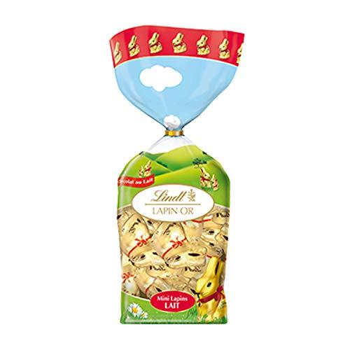 Lindt – Sacchetto con 12 mini coniglietto dorato, cioccolato al latte, fine e irresistibile, 120 g
