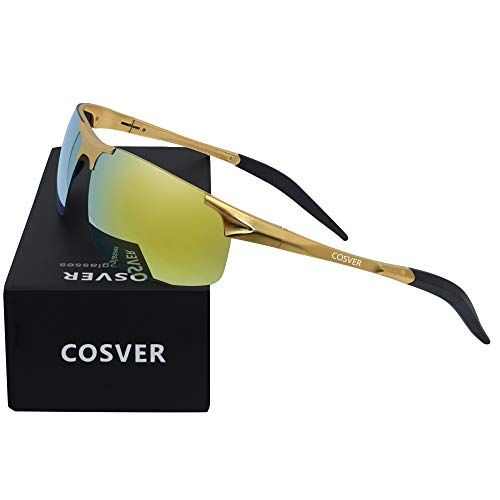 COSVER Men's Polarized Sunglasses for Men Sports Driving Cycling Running Fishing Golf Unbreakable...