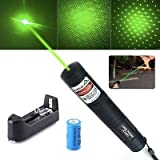 Asier JD-851 20mW 532nm Starry Green Laser Pointer With a Star Cap for Presentation Teaching Outdoor