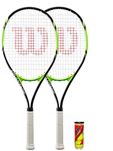Wilson 2 raquetas de tenis XL serie + 3 pelotas de tenis...