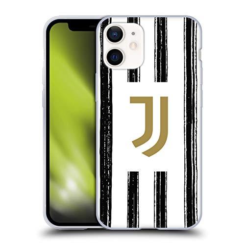 Offizielle Juventus Football Club Home 2020/21 Match Kit Soft Gel Handyhülle Hülle Huelle kompatibel mit Apple iPhone 12 Mini