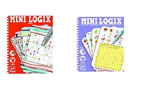 udc Djeco - Lot von 2 Mini Logix Kartenspielen - Wörter und Sudoku…
