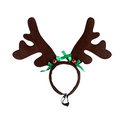 POHOVE - Fascia per capelli con renna e renna, per cani, cani e renne, per cani di taglia media e grande