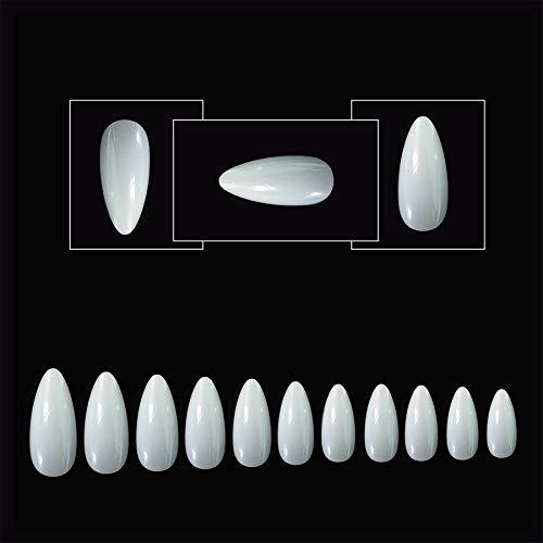 500 Falsche Nägel Tips Stücke Acryl Nail art Full Cover Mandel Gefälschte Nägel 10 Größen Lange Mandel Stiletto Falsche Nagel für Frauen Mädchen