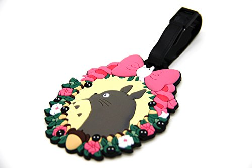 CellDesigns Anime Totoro in Wreath Luggage Tag Suitcase ID Tag with Adjustable Strap