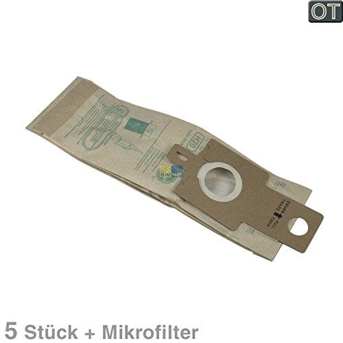 Hoover 09173717 Original 5 bolsas de filtro H20 + microfiltro para aspiradora PurePower, cepillo de aspiración también Candy Hanseatic Neckermann Quelle Privileg
