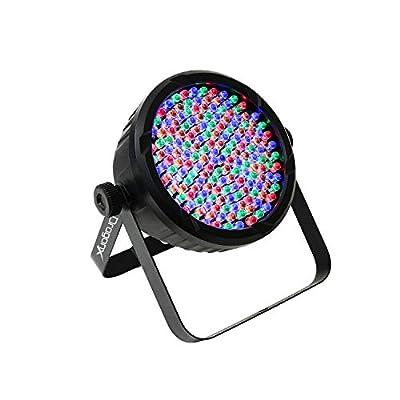 DragonX DJ Lighting – RGB LED Light w/Amber & White RGBA – Slim LED 64 Par Can Wash Light 177 (10mm) Slimpar 64 Party Light for DJ Lighting, Uplighting, Wedding, Event, Stage, DMX 512