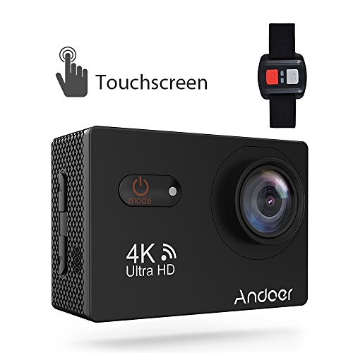 Sports Camera, Andoer 4K Touchscreen Action Camera 2inch LCD Wireless 16MP Ultra HD 170° Wide Angle Waterproof Sport Action Cam Camcorder with Sony Image Sensor