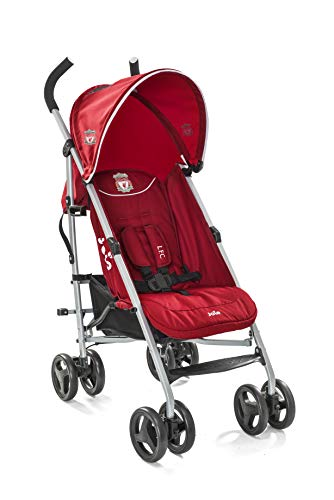 Joie Nitro LFC Umbrella Pushchair/Stroller, Red Crest Joie Sleek and lightweight umbrella chassis weighing just 7.52kg Suitable from birth with flat reclining seat SoftTouch, 5-point harness with shoulder covers 5