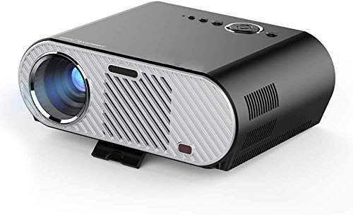 speakers with nfcs Video Projector 380 ANSI Lumens 1080P Full HD HDMI Office Cinema with 150 inch Picture Size for Business Presentation and Home Theater