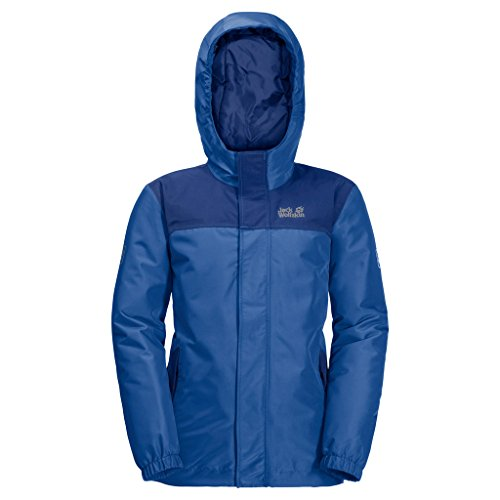 Jack Wolfskin Kinder B KAJAK Falls JKT Winterjacke Wind-und wasserabweisend Atmungsaktiv Wetterschutzjacke, Blau (coastal blau ), 152
