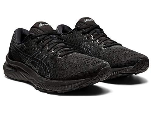 ASICS Women's Gel-Cumulus 22 Running Shoes, 10M, Black/Carrier Grey