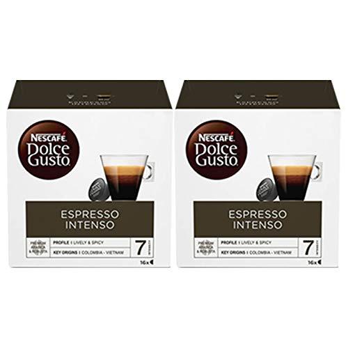 Dolce Gusto Intenso Espresso Nescafé 16 Por Paquete (Paquete de 2)