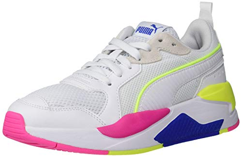 PUMA Women's X-ray Sneaker, White White-Dazzling Blue-Yellow Alert-Fluo Pink, Numeric_6_Point_5