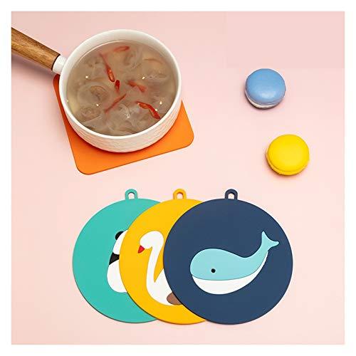 Mantel Placems de silicona de goma for la mesa redonda de la cocina de la cocina, el conjunto de esteras de colocación de vinilo ovalado, placemat de impermeables antideslizantes for niños, placemats