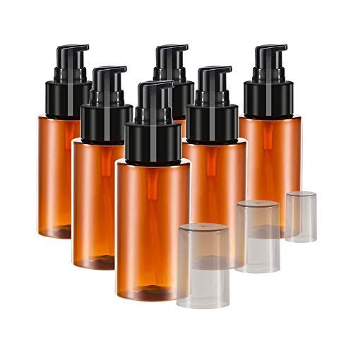 ZSLGOGO 60ML Flacon Pompe Vide Vide en Plastique Distributeur Rechargeables Flacon Pompe pour Lotion Shampooing Huile de Massage Dispensing Bottle 6pcs/Set
