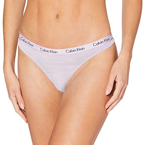 Calvin Klein Damen Thong Tanga, Pink (Feeder Stripe_Charm FSV), S