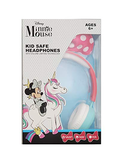 Minnie Mouse Kid Safe Headphones with Pink Bow