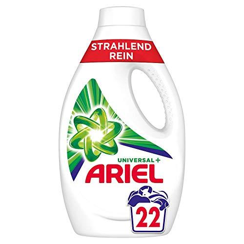 Ariel Waschmittel Flüssig, Flüssigwaschmittel, Strahlend Rein, 22 Waschladungen (1.21 L)