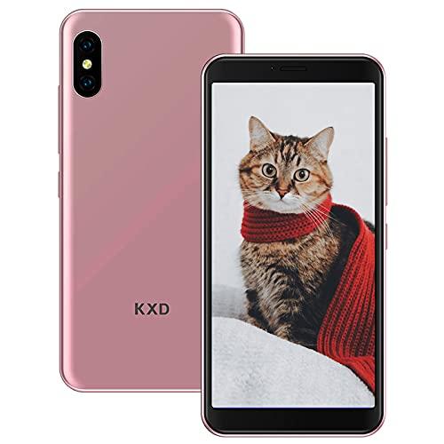 KXD 6A Smartphone Offerta del Giorno Cellulari Offerte 5.5 Pollici 8GB ROM 64GB Espandibili 2500mAh 3G Dual SIM Cellulari Offerte Android 5MP Camera Face ID Economici Telefoni Mobile, Oro rosa
