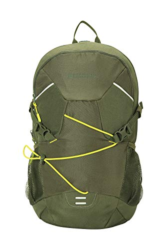 Mountain Warehouse Polaris 25L Rucksack -Padded Airmesh Backpack, Hydration Compatible -for Camping Khaki