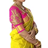 Esomic Women's Cotton Silk Saree with Blouse Piece
