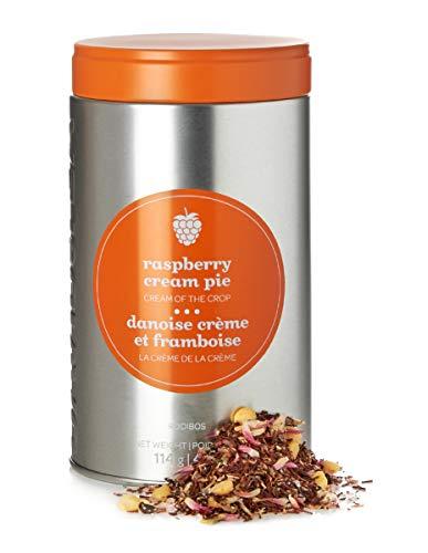 DAVIDsTEA Raspberry Cream Pie Loose Leaf Tea Perfect Tin, Premium Caffeine-free Rooibos Tea with Raspberry and Yogurt, 4 oz / 114 g