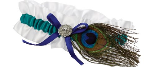 Hortense B. Hewitt Wedding Accessories Peacock Feather Garter