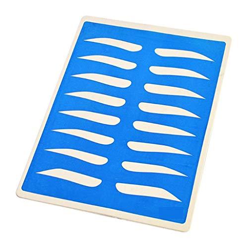 Brow Shaping Duo Comprend le Pinceau angulaire et Spoolie Pour créer Defined, Brow naturel, s'annonce Modèles durables de maquillage Sourcils Pochoirs carte de classe,Bleu