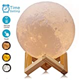 ACED Moon Lamp, 3D Printed LED Moon Night Light Lamp, Touch Control, Ajustable Brightness, USB Recharge, Seamless Lunar Moonlight Lamp with Stand for Bedrooms, 5.9Inch [Upgraded Version]
