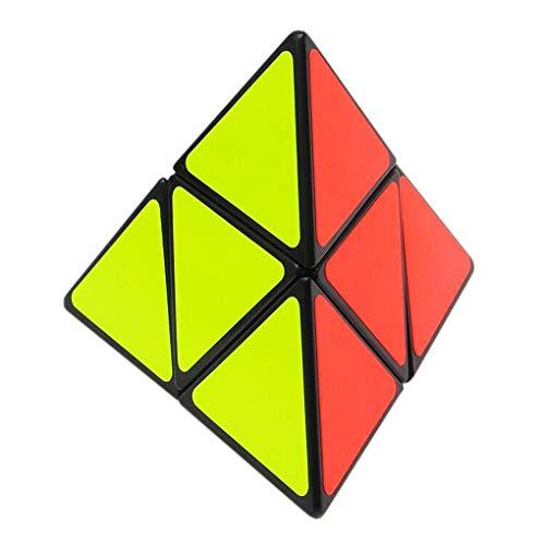 TOYESS Cubo Magico Triangolo Piramide Pyraminx 2x2 High Speed Cube Colorato Sticker Cube Regalo per i Bambini e Adulto (Nero)