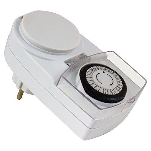 Heitronic Zeitschaltuhr IP44 für Lichterketten geeignet 24 Std