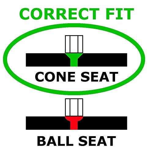 "McGard 84551 Black (1/2""-20 Thread Size) Bulge Style Cone Seat Wheel Installation Kit for 5-Lug Wheels"