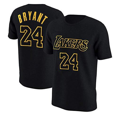 T Shirt Nba La Lakers Kobe Bryant Kurzarm Retired Gedenk Fan Jersey Baumwolle 8 24 Basketball Sport Herren Weste Black 24 Xl