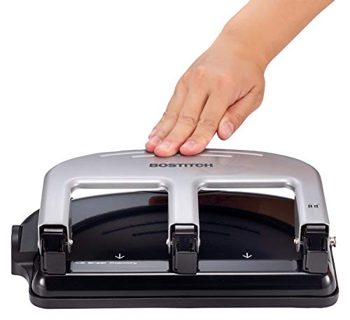 Bostitch Office PaperPro inPRESS 40 Reduced Effort 3-Hole Punch, 40 Sheets, Silver (2240) |