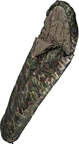 Bundeswehr Mumienschlafsack 2-lagig (460 g/m²) mit Packsack Schlafsack Flecktarn Oliv Woodland