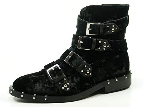 Bronx Bwagonx 46994-C-01 Schuhe Damen Chelsea Boots Biker Stiefeletten, Größe:36 EU, Farbe:Schwarz