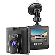 """Dash Cam Front with 2.4"""" IPS Screen, BOOGIIO 1080P Dash Camera for Cars, Small Driving Recorder with G-Sensor, Parking Monitor, Loop Recording, Evidence Preserve, Motion Detection"""