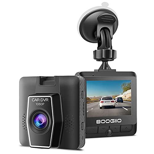 """Dash Cam frontal con pantalla IPS de 2.4"""", cámara de salpicadero BOOGIIO 1080P para coches, grabadora de conducción pequeña con sensor G, monitor de estacionamiento, grabación en bucle, preservación de pruebas, detección de movimiento"""