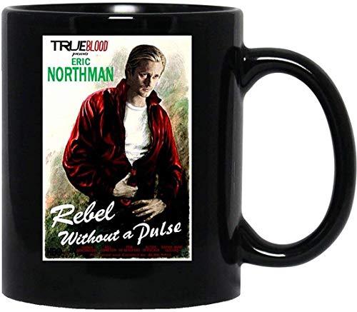 N\A True Blood Eric Northman Rebel sin Pulso Vampire Parody Fan Art Taza con asa, Taza de café Reutilizable de cerámica aislada, Taza de Viaje de café