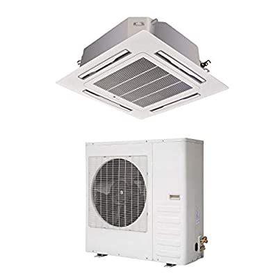 36000 BTU 10.5kW Super Slim DC Inverter Round Flow Ceiling Cassette Air Conditioner - 4-Way Round Flow Air Conditioning Unit with Heat Pump