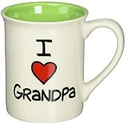 "Our Name is Mud ""I Heart Grandpa"" Stoneware Mug, 16 oz."