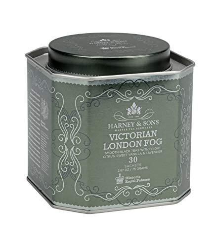 Harney amp Sons Victorian London Fog Tea – Black Tea with Citrus Vanilla and Lavender – 30 Tea Sachets 267 Ounces