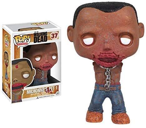 MMZ Funko Pop! The Walking Dead #37 Michonne Pet Zombie Série 2 (No Box Chibi,Multicolor
